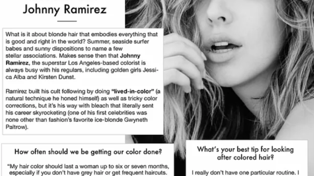 The Colorist: blond ambition with Johnny Ramirez ~ Fab Beauty