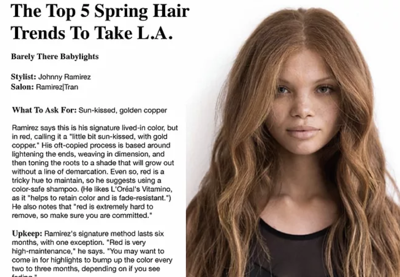 The Top 5 Spring Hair Trends To Take L.A. ~ Refinery 29