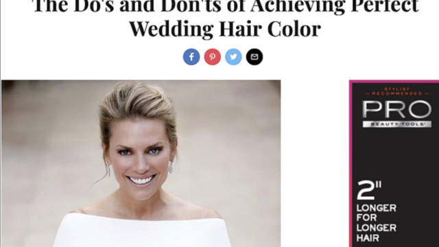 The do's and don'ts of achieving perfect wedding hair color ~ INStyle