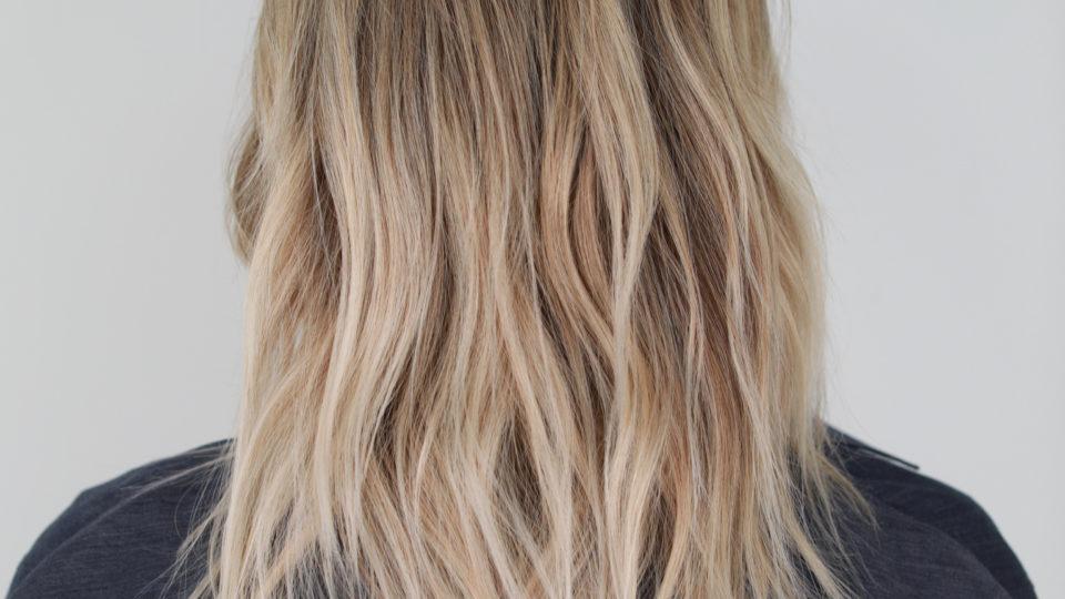 Shoulder Length Winter Blonde Hues…
