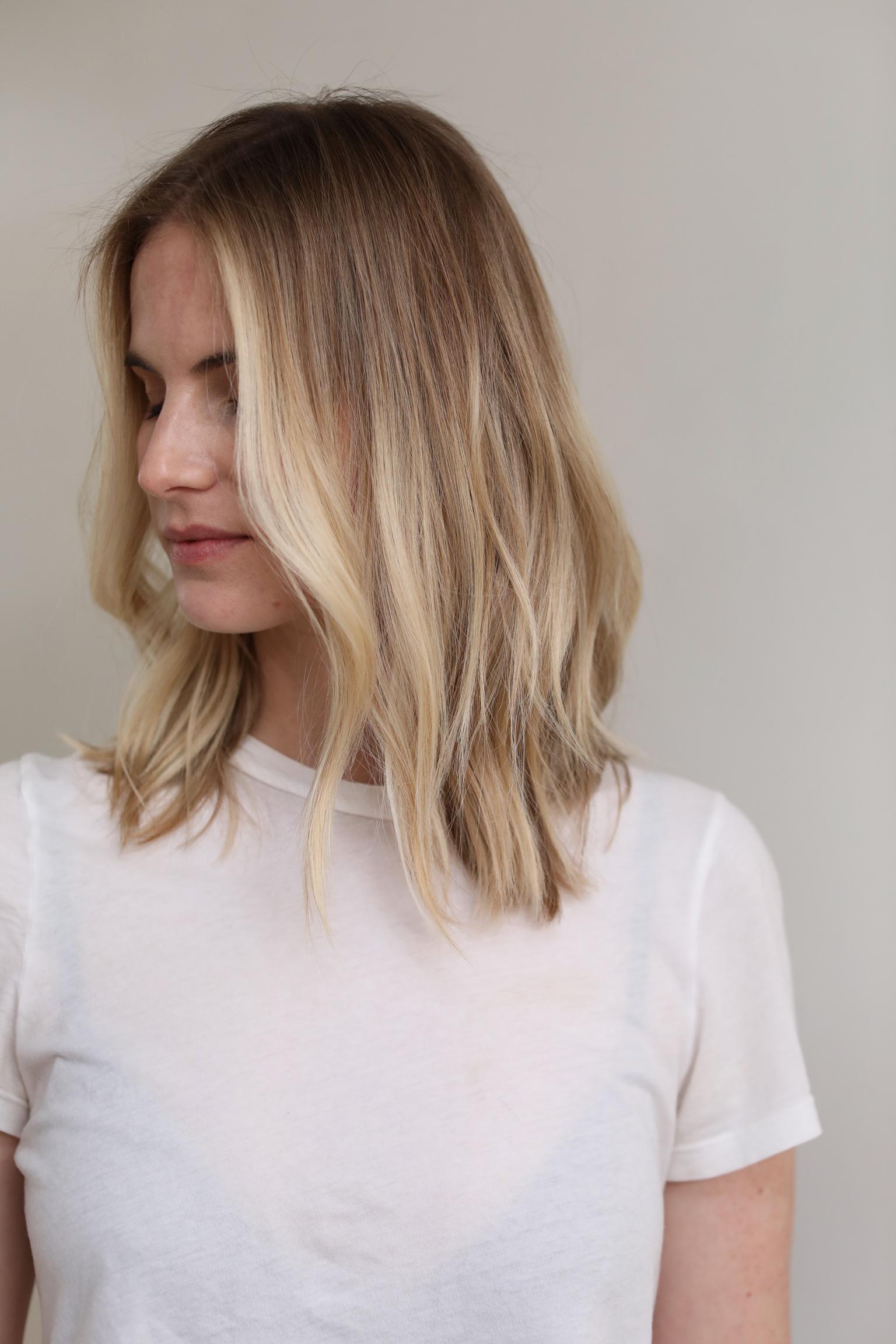 Sun-kissed summer blonde highlights