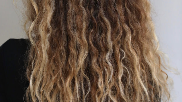 Curly Blonde Ombre…
