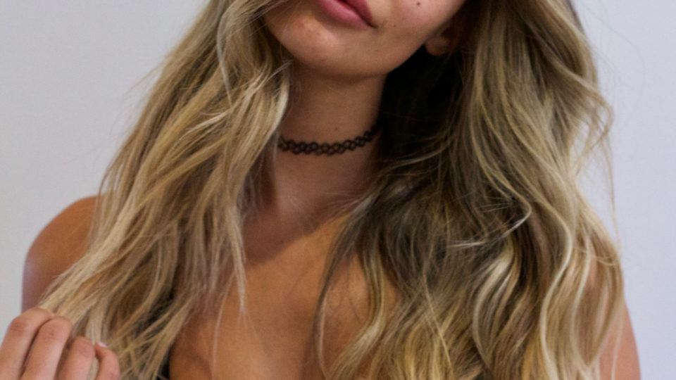 Beachy Brunette with Blonde Highlights